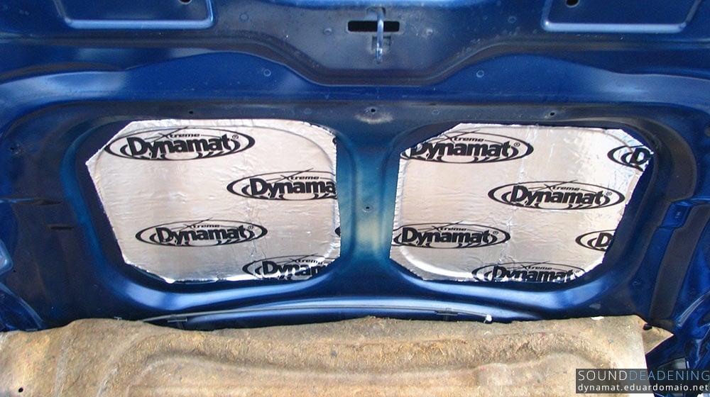 Dynamat Extreme on the bonnet
