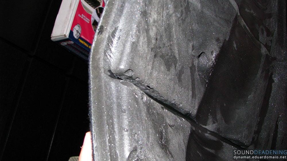 Boot floor mat underside